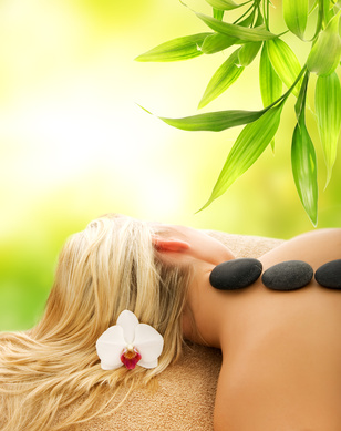 Massage with volcanic hot stones