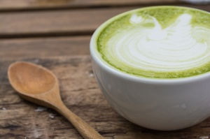 Japanese drink, Matcha Latte Cup of green tea