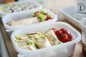 Gesunde Mittagspause im Büro